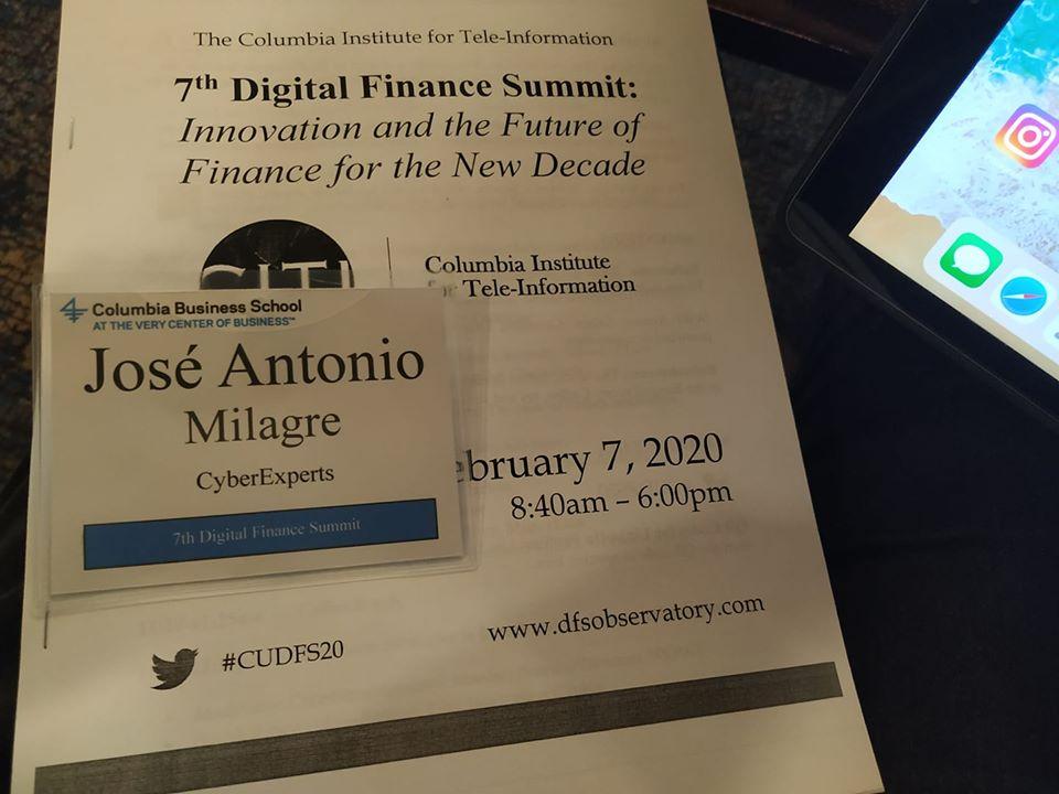 Nosso CEO, José Milagre, participa da 7th Digital Finance Summit, na Universidade de Columbia-NY, representando a Cyber Experts Academy em uma das maiores reuniões de mentes que refletem a regulação de Criptomoedas no mundo.